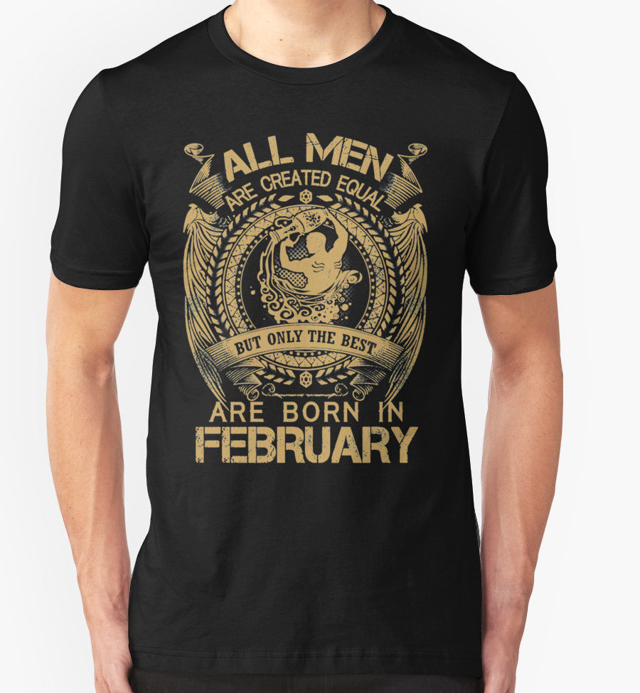 BIRTHDAY T SHIRT FEBRUARY AQUARIUS PRESENT GIFT STAR SIGN ZODIAC New Shirts Funny Tops Tee Unisex