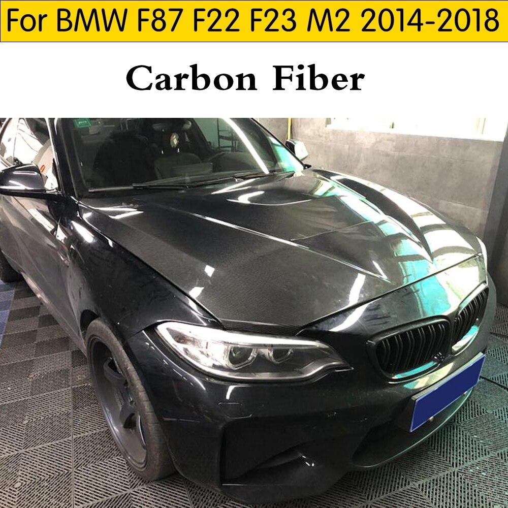 Capot moteur en fiber de carbone pour BMW M2 2014-2018 couverture moteur en fiber de carbone réelle pour BMW F87 F22 F23 M2 capot moteur en fiber de carbone