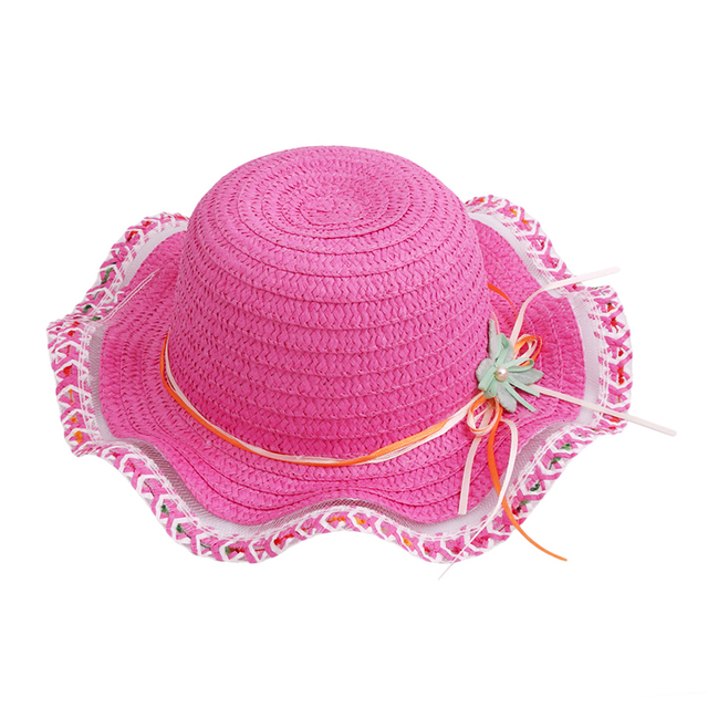 1 PZ bambini Neonata Capretti Paglia Cappello Del Sole di Estate Bella Moda  cappello della spiaggia 680684f7e70a
