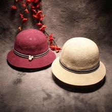 Summer Floppy Straw Beach Sun Hats For Women Classic Wide Brim Panama Hat Fashion Brief Solid Panama Caps
