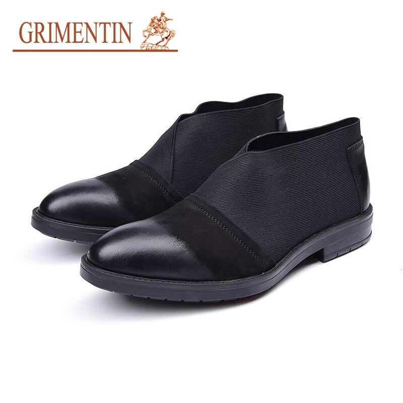 GRIMENTIN/замшевые туфли мужские в английском стиле Повседневная обувь итальянские дизайнерские черные деловые туфли мужские мужская без шнур