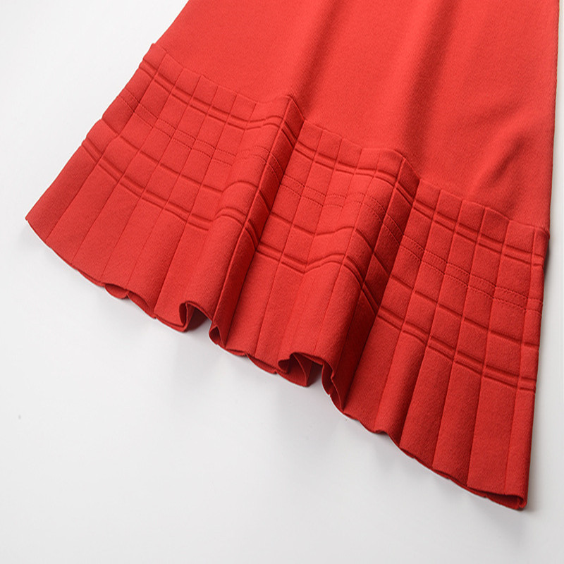 Vestito Runway Black Nuova Ruffles Pullover Dolce Dal Deisgn Della Femme Fuori Donne Delle red Vestido Spalla Estate 2019 Sruilee Maglia Robe Elegante wqAfzIxnRR