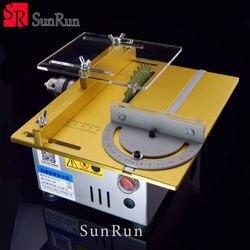 Mini serra de mesa/12 v-24 v portátil diy máquina de corte de madeira, desktop buda grânulos polonês máquina, metal/cortador acrílico