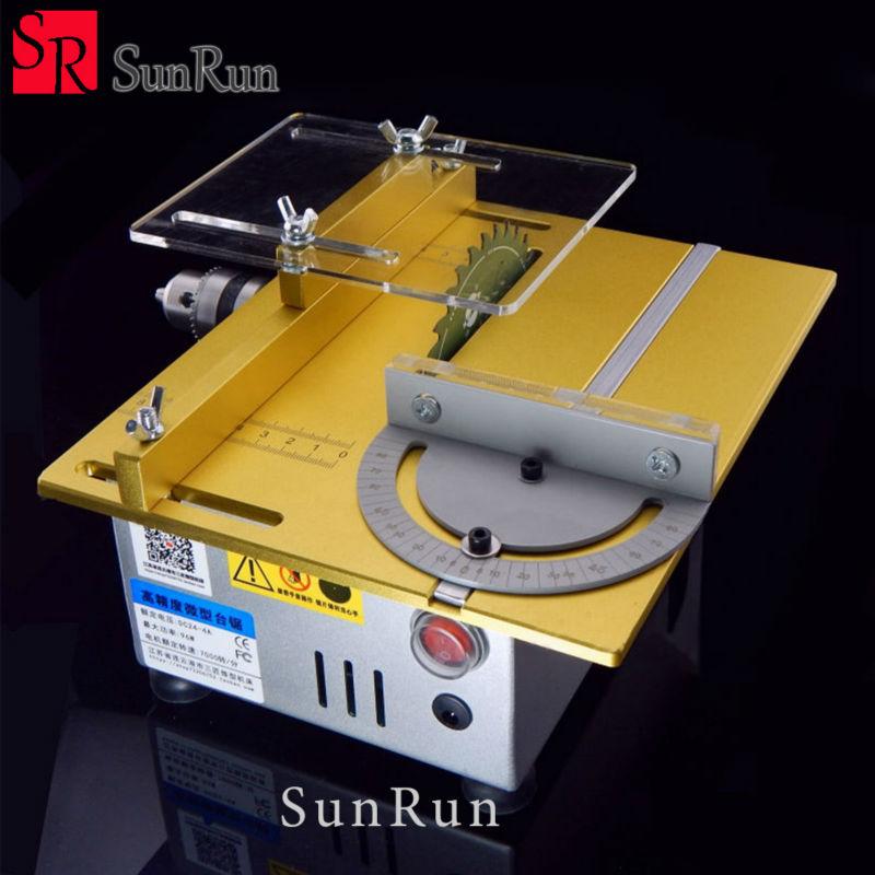 Mini table saw/12V-24V portable DIY wood Cutting machine, desktop buddha beads polish machine,metal/Acrylic cutter