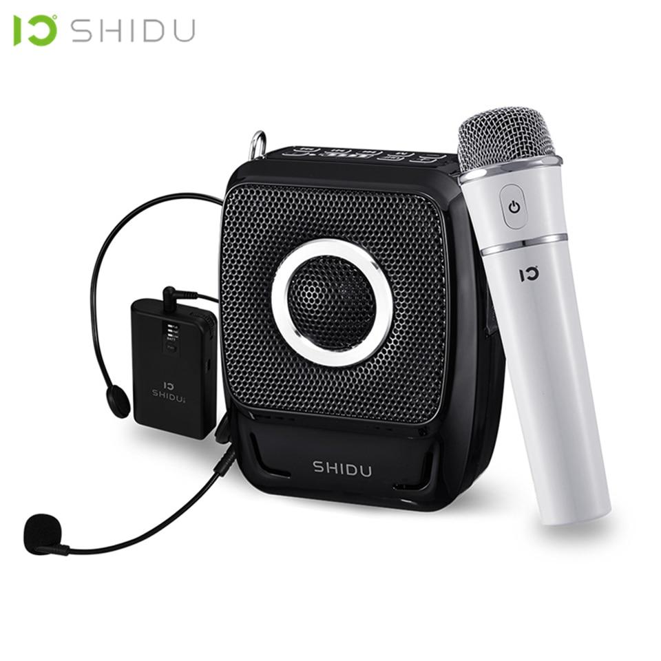SHIDU 25W Portable Voice Amplifier Waterproof Mini Audio Speaker USB Lautsprecher With UHF Wireless Microphone For