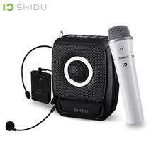 SHIDU 25W Portable Voice Amplifier Waterproof Mini Audio Speaker USB Lautsprecher With UHF Wireless Microphone For Teachers S92 shidu ultra wireless portable uhf mini audio speaker usb lautsprecher voice amplifier for teachers tourrist yoga instructor s615