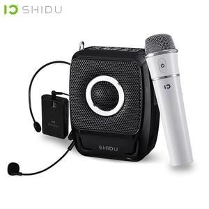 Image 1 - SHIDU 25W Portable Voice Amplifier Waterproof Mini Audio Speaker USB Lautsprecher With UHF Wireless Microphone For Teachers S92