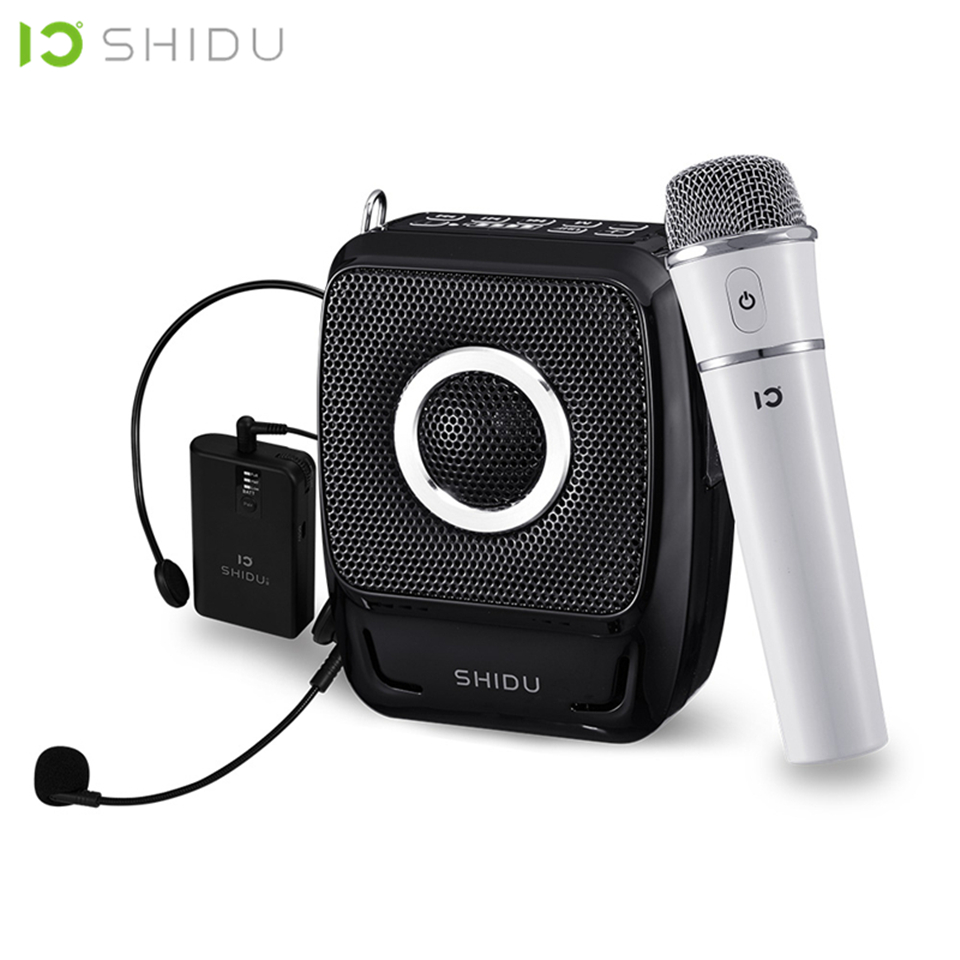 SHIDU 25W Portable Voice font b Amplifier b font Waterproof Mini Audio Speaker USB Lautsprecher With