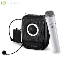SHIDU 25W 휴대용 음성 증폭기 방수 미니 오디오 스피커 USB Lautsprecher UHF 무선 마이크 교사 S92