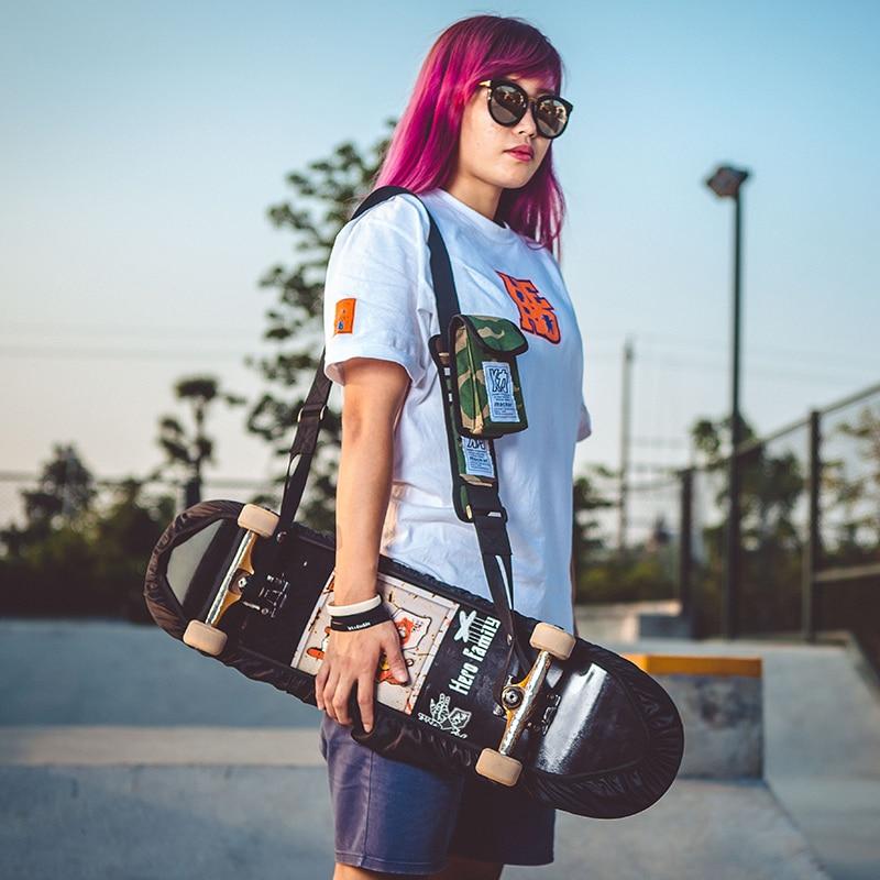 Image 2 - Mackar design professional long board dance board shoulder skateboard strap double rocker road board electric skateboard bag-in Skate Board from Sports & Entertainment