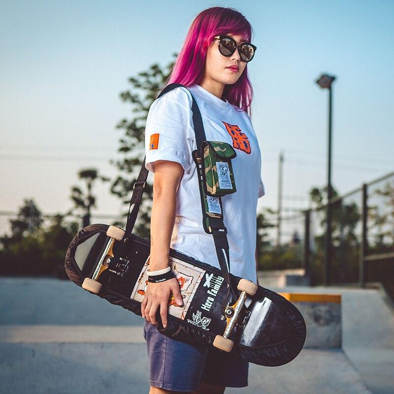 Image 2 - Mackar дизайн профессиональная длинная доска танцевальная доска на плечо скейтборд ремень двойной рокер дорожный Электрический скейтборд сумка-in Скейтборд from Спорт и развлечения