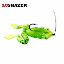 LUSHAZER 2pcs/lot frog lure 6.6g 5.5cm fishing bait soft lures japan jigging plastic fishing lures Pesca iscas artificiais