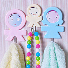 3 Pack Cute Three-Piece House Strong Paste Hanger Hook Multi-Purpose Kitchen Bedroom