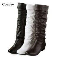 Autunno e inverno donna stivali moto Ad alta gamba stivali da neve scarpe Nero Bianco Marrone 3 colori Trasporto Libero all'ingrosso