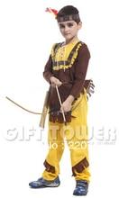 Niños niño Retail Indio trajes de Combate/carnaval de disfraces cosplay para los niños del muchacho/niños trajes de cosplay(China (Mainland))