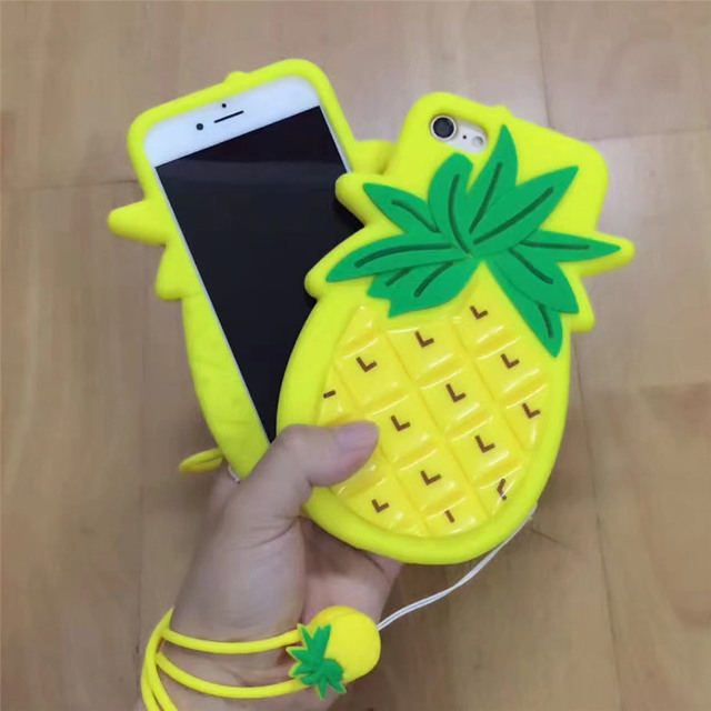 coque iphone 7 silicone ananas
