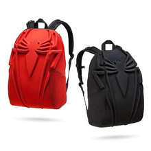 Hot New Spider-Man Backpack Solid Spider Black Red Movie Anime Creativity Fancy Double Shoulder Computer Bag