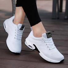 Белые кроссовки размера плюс 41, 42, женская спортивная обувь, мужские спортивные кроссовки для бега, Zapatos De Mujer, мужские сетчатые женские кроссовки на плоской платформе