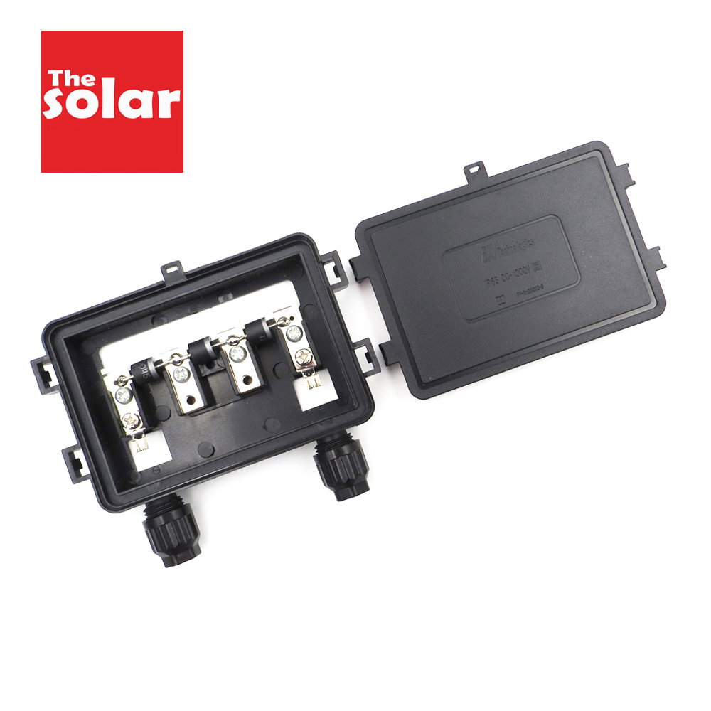 Solar Junction Box For Solar Panel 130W 140W 150W 175W 180W 200W Connect PV Junction Box Solar Cable Connection With Diodes