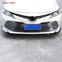 Front Bumper Lip Cover Trim Matt Car Front Lip Bumper Cover Sticker Protecter Decorative For Toyota Camry 2018 2019 SE/XSE