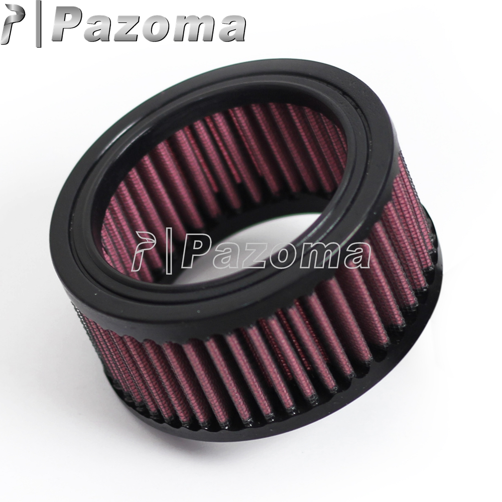 Universal Red Round 6ml Motorbike Motorcycle Air Filter Moto Air Cleaner 73mm Inside Diameter 98mm Outside Diameter 53000459
