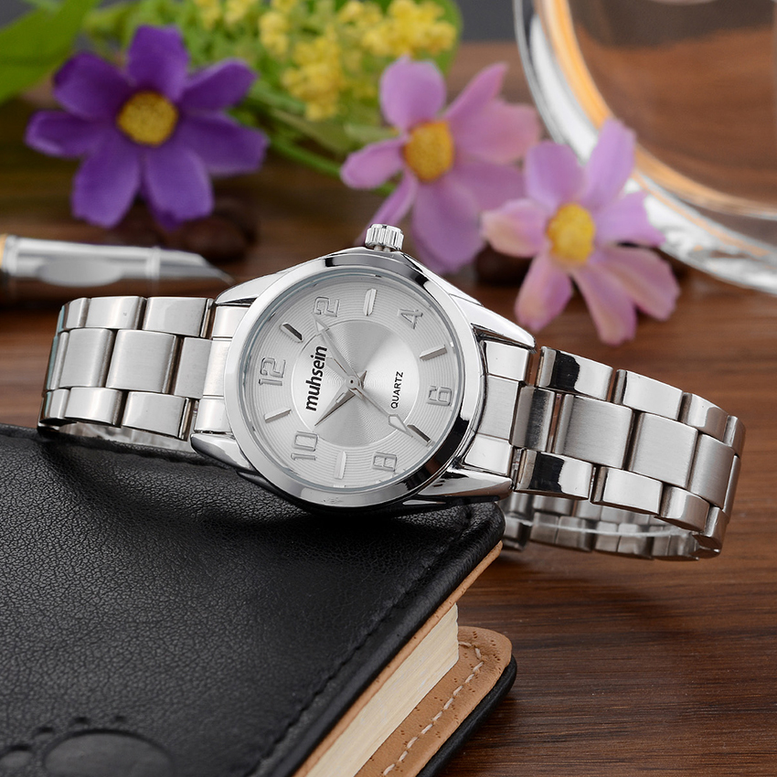 Muhsein new  casual business brand fashion ladies watch stainless steel waterproof quartz watchMuhsein new  casual business brand fashion ladies watch stainless steel waterproof quartz watch