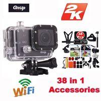 Free Shipping Gitup Git2 Novatek 96660 1080P WiFi 2K Outdoor Sports Action Camera 38Pcs Accessories Kit