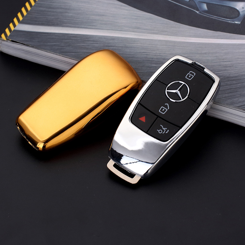 Tpu rubber key bag key protective protective sleeve for Mercedes benz key holder