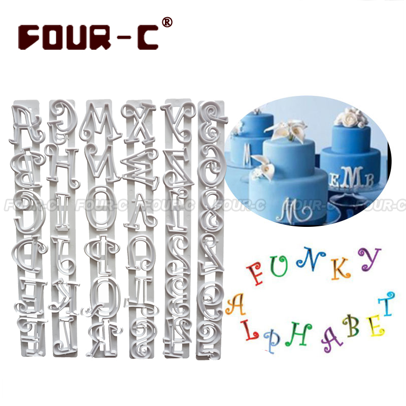Alphabet Plastic cutter set of 6 PCS Plastic cake cutters ...