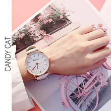 Fashion Trend Big Dial Student Female Watch Korean Version of The Simple Watch Men's Casual Retro Belt Lovers Quartz Watch