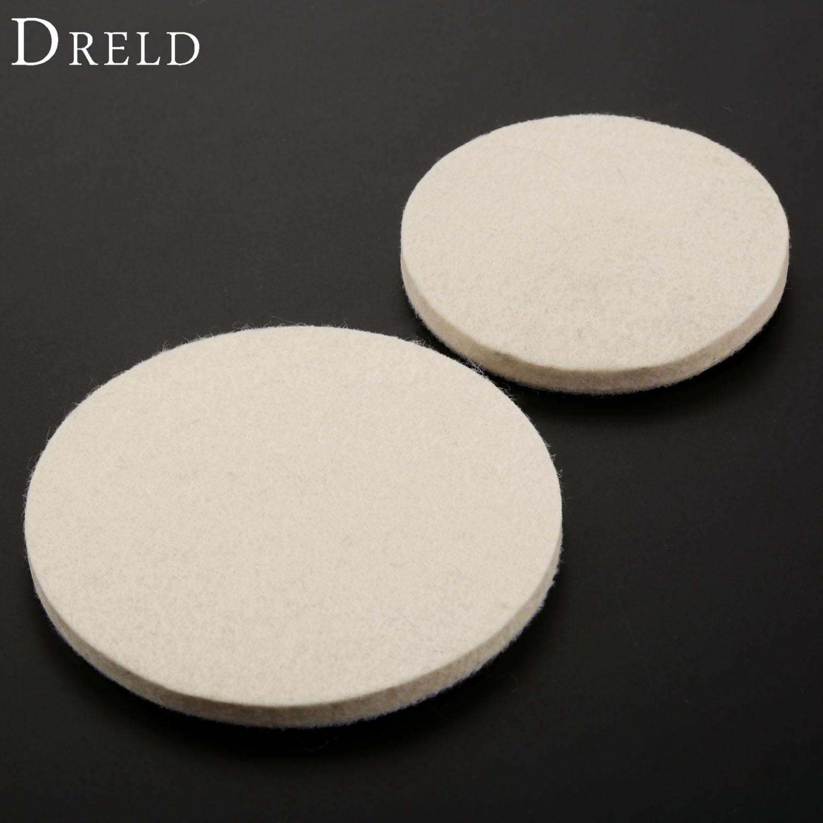 DRELD 1Pc 100mm /125mm Grinding Polishing Buffing Wheel  Dremel Accessories Wool Felt Polish Polisher Disc Pad For Metal Ceramic