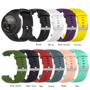 Image 1 - סיליקון רצועת השעון רצועת עבור Huami 3 Smartwatch amazfit סף (A1801) החלפת 10 צבעים להקת יד צמיד רצועות