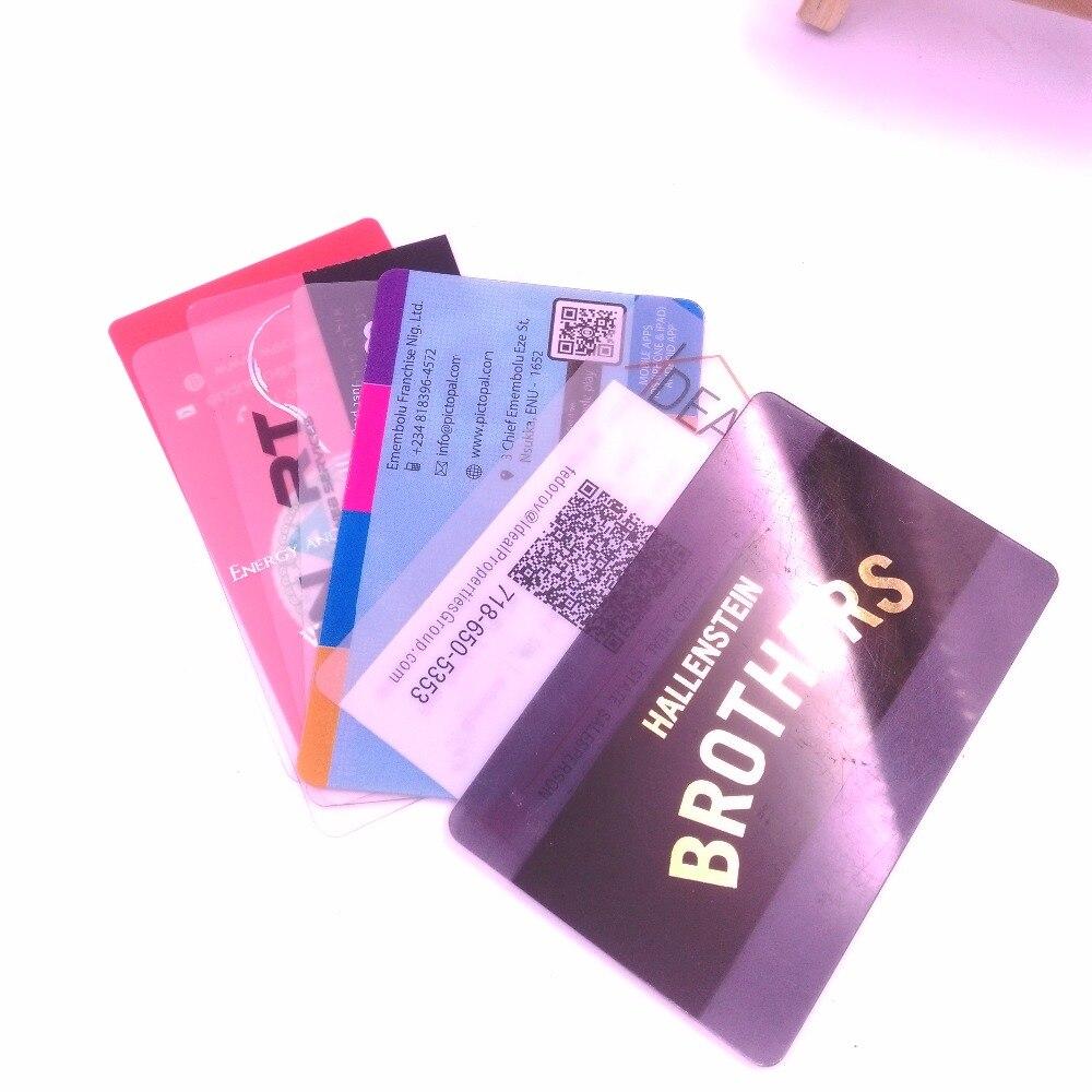 Taxa de envio para amostras de cartão plástico