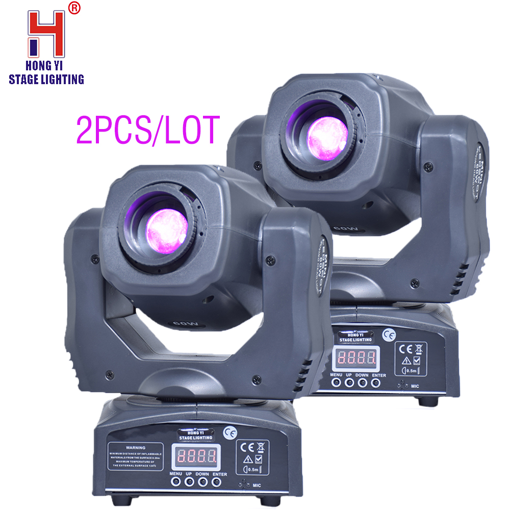 China Supplier 60W Led Moving Head Spot Light Led Mini Moving Head Beam Light Double Gobo Wheel(2pcs/lot)