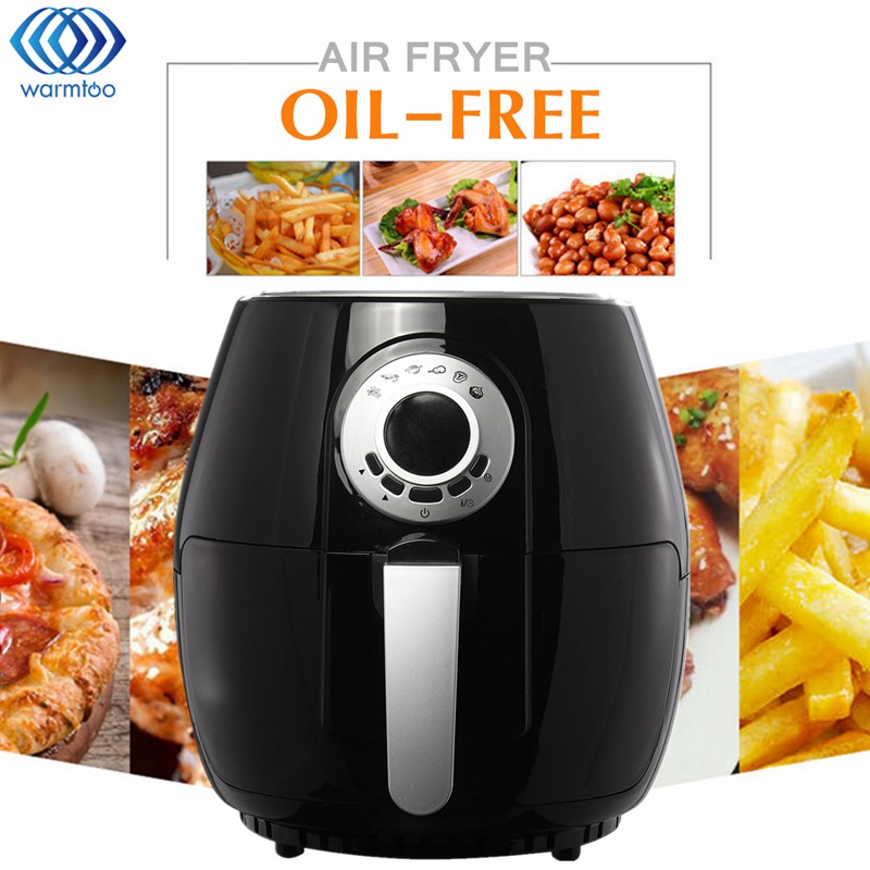 Electric Air Fryer Oil-free Fryer 3L Intelligence Chicken French Fries Machine Display 220V 1400W EU Plug Kitchen Appliances home healthy non stick electric deep fryer smokeless electric air fryer french fries machine for home using af 100 1pc