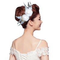 Wholesale 5pcs White Feather Flower Hair Decor Brand New And Cheap Price Party Hair Jewelry Women