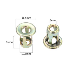Image 2 - 10Pcs Car Metal Screw Base Clamp Auto Trunk nut Front Back License Plate Install Fastener Clips Fit For Santana universal