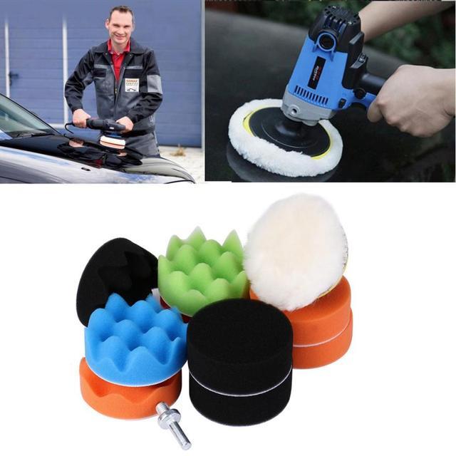 Polishing Pad 11 Pcs Waffle Buffer Set For Car Polisher Select Size Car Wash  Maintenance jul14