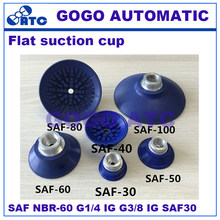 Flat vacuum suction cup SAF30/60 NBR-60 G1/4-IG G3/8 IG thin sheet metal automotive industr Vacuum Pad Robot accessories(China)