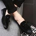 2017 Nueva Llegada Mens Casual Zapatos de Cuero del Ante de Los Holgazanes mocasines de Moda de Bajo Zapatos de Los Planos de Deslizamiento En Los Hombres oxfords Zapatos EPP126