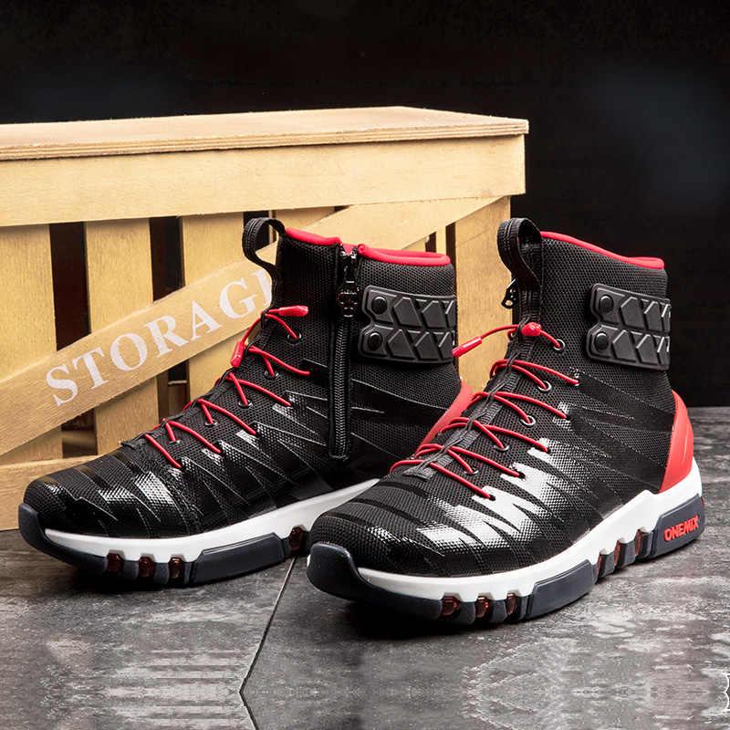 2018 Onemix أحذية للرجال احذية الجري رجالية عالية أفضل ضوء Crosser اللياقة البدنية في الهواء الطلق الركض أحذية رياضية مريحة احذية الجري