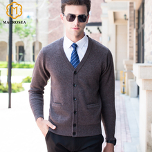 Толстый кардиган, Высококачественная Мужская брендовая одежда, дизайнерский Высококачественный свитер из шерсти, мужской шерстяной кардиган