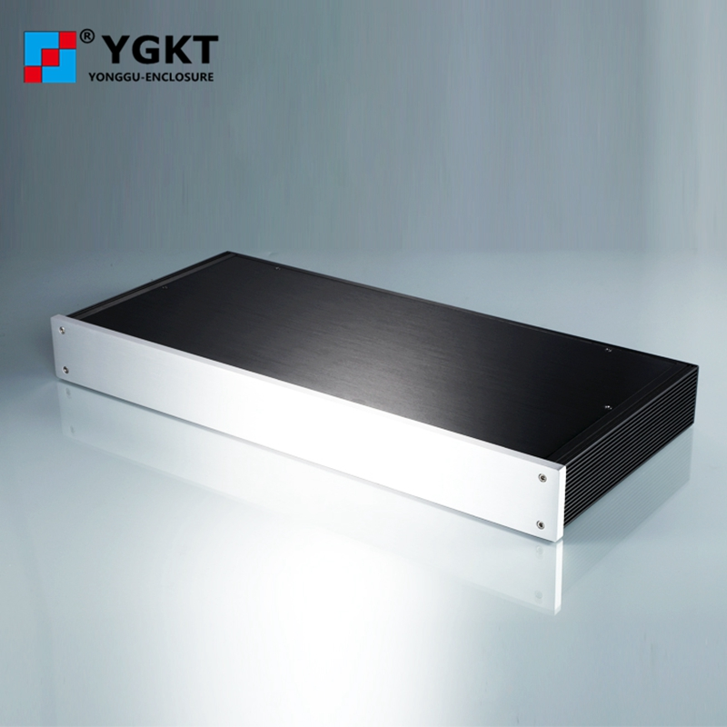 438*45-250mm(WxH-D)wholesale aluminum profile electronic enclosure amplifier case/aluminum electronic enclosures new arrival gof p01 248 4x81 5x209 mm wxh d anodizing aluminum enclosure stereo case