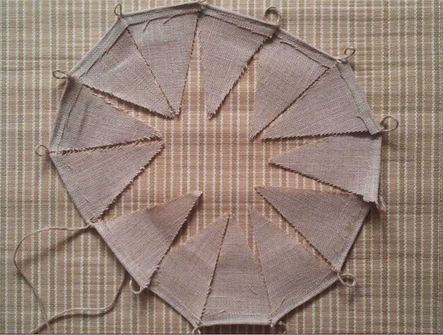 Wholesale Wedding Burlap Bunting Hessian Home Banner Birthday Bunting Photo Props Rustic Vintage Party Decoration