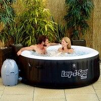 54123 BestWay 71 x 26/180x66 см большой круглый толстый надувной семейный надувной бассейн/BestWay Lay Z Spa Майами/надувная ванная