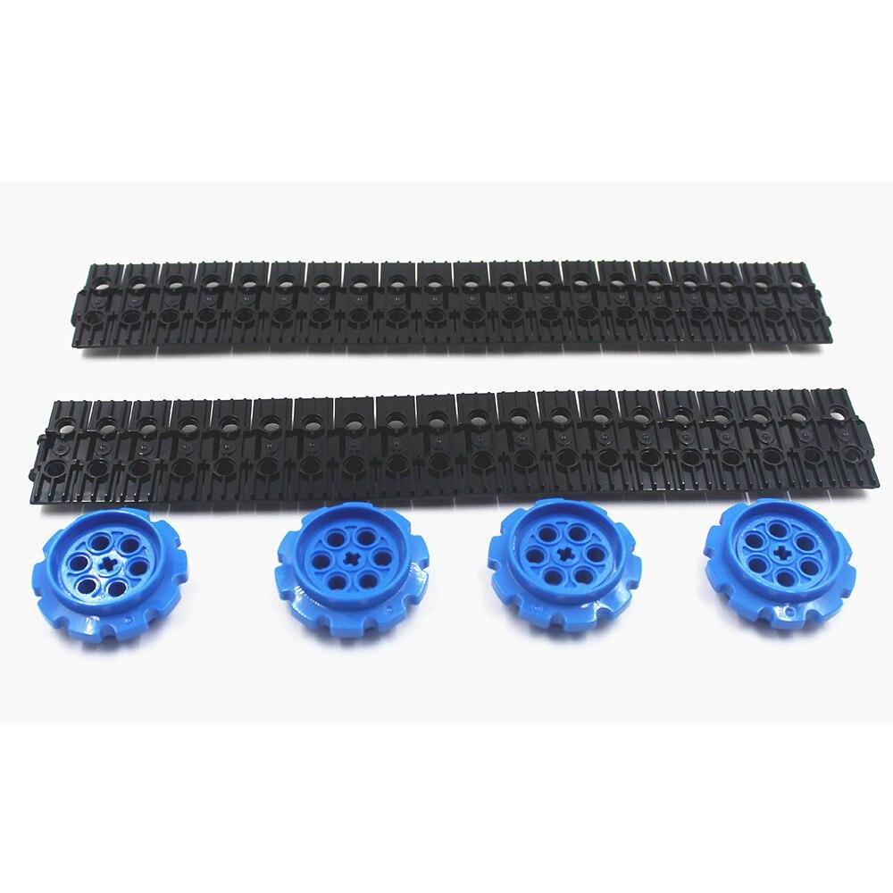 MOC Technic Parts 40pcs Technic TRACK ELEMENT, 5X1.5 + 4pcs SPROCKET, DIA40,7 Compatible With Lego For Kids Boys Toy
