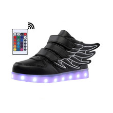 Boys Girls Led Sneakers with Luminous Sole Lighted Shoes With Remote Controller Glowing Kid