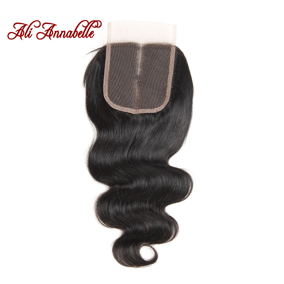 HTB1IF8Bd.GF3KVjSZFoq6zmpFXac ALI ANNABELLE HAIR Brazilian Body Wave Remy Human Hair Bundles With Closure Brazilian Human Hair Weave Bundles with Closure