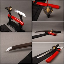 Holloween Decoration High Carbon Steel A-Grade Small Knife Tanto Handmade Short Japanese Full Tang Blade Samurai Sword