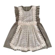 87980ac55 Vuelo de manga corta vestidos de niña versión coreana de los nuevos niños  de verano vestido de princesa para niños chica ropa de.